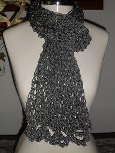 cachecol em trico fio fênix prata www.facebook.com/artesdairis