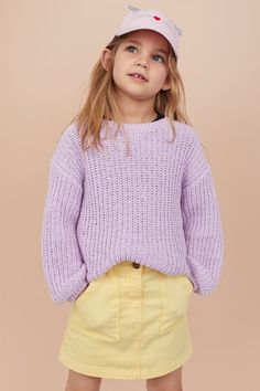 Skirt in washed, stretch cotton twill. Adjustable elasticized waistband, zip fly with button, and patch front pockets. Young Girl Fashion, Kids Fashion, Little Girl Models, Cute Poses, Cute Girl Outfits, Girls Sweaters, Fashion Company, Skirts, Cotton