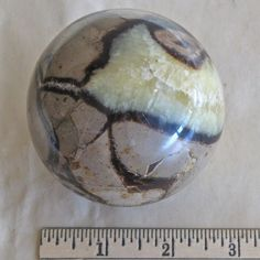 "Quartzite Rock Mineral Sphere Ball 2 7/8"" Patterned"