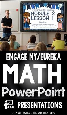 Engage NY / Eureka math PowerPoint presentations to teach the entire year's math lessons for kinderg Fourth Grade Math, First Grade Math, Eureka Math 4th Grade, Kindergarten Lessons, Math Lessons, Math Strategies Posters, Math Resources, Engage Ny Math, Math Lesson Plans