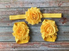 Yellow Barefoot Sandals & Headband/Baby Barefoot Sandals/Baby Shoes/Baby Sandals/Baby Girl Shoes/Newborn Shoes/Newborn Sandals/Baby Girl by JuliaGraceDesigns1 on Etsy