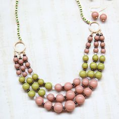 moroccan bliss beaded necklace $22.99 - I love the colors!