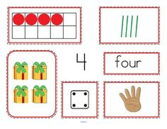 This is a set of number mats to use to practice recognition of various ways that numbers (0-10) can be represented. The representations in this activity are: the numeral, the number word, a 10-frame organizer, tally marks, dice, finger counting, and a set of objects. 24 pages.