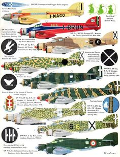 Some crazy camo and liveries of Italian bombers