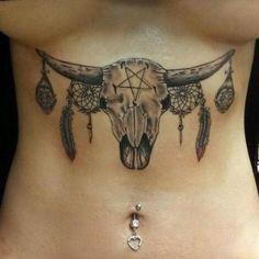 I would def tweak a few things. Bull Skull | Tattoo.com
