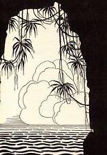 "Original DON BLANDING ART DECO Vintage Print 1953 ""Tranquility"""