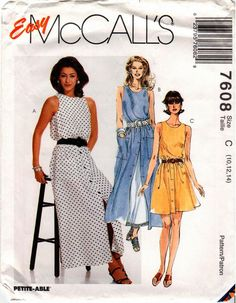 Etsy の UNCUT Easy McCall's Pattern 7608  Misses by RestlessNeedle
