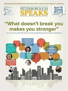 """""""What doesn't break you makes you stronger"""" by Jeannine Taylor // Annual Peterborough SPEAKS fundraiser supports therapy for people with mental health issues."""