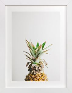 Living Room: Fun print for really anywhere in your house. Pining for Pineapple by Joni Tyrrell at minted.com