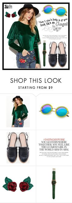 """SheIn 10."" by fashion-rebel-chic ❤ liked on Polyvore featuring Kate Spade and Atelier Swarovski"