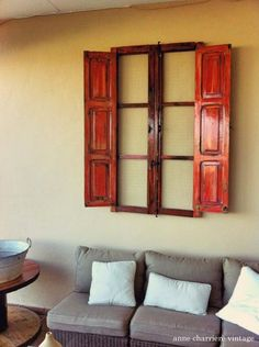 repurpose a spanish window to outdoor wall decor, outdoor furniture, repurposing upcycling, wall decor, woodworking projects Diy Rustic Decor, Unique Wall Decor, Rustic Wall Decor, Staircase Wall Decor, Bathroom Wall Decor, Bathroom Taps, Woodworking Projects, Diy Projects, Spanish