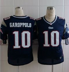 9ac7d2b67 Nike NFL New England Patriots  10 Jimmy Garoppolo Navy Blue Men s Elite  Jersey