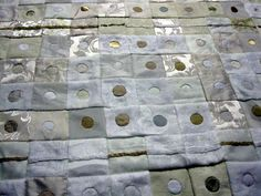 Judys Journal: reverse applique dots on quilt squares