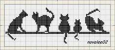Resultado de imagen para esquemas de gatos en punto de cruz