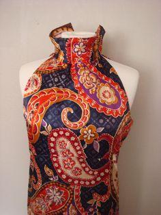 Vintage Womens Maxi Dress 1960s/1970s Boho Mod by decadencefashion