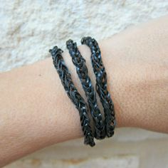 No Loom Rubber Band Chain, made with dollar store hair bands
