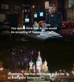 Charlie Brooker on Russian homophobia