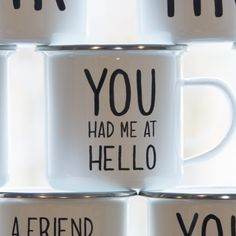 https://www.sassandbelle.co.uk/You Had Me At Hello Enamel Mug