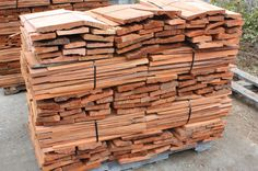 You will need stacks of shingles. Cedar Shake Shingles, Cedar Shingle Siding,Cedar Shake Roof, Wood Roofing