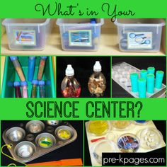Preschool Science Center Materials and Set-Up