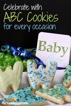 ABC & 123 Cookies for Every Occasion. Lots of ideas for these fun, personalized treats. www.theyummylife.com/ABC_123_Cookies