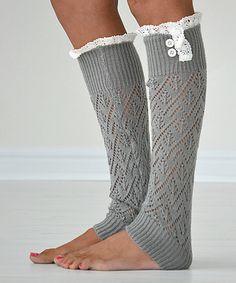 Love this Light Gray Darcy Leg Warmers by PeekABootSocks on #zulily! #zulilyfinds