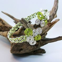 Celtic weave wire bracelet is light and easy to wear with pretty spirals adorning the wrist. We use a nickel free wire with a beautiful non-tarnish coating that makes it friendly even for allergy suff