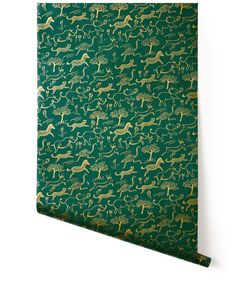 Safari (Hunter) kids room wallpaper from rifle paper co