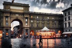 Arch and carousel at Piazza della Repubblica (Republic Square) on a dramatic rainy day in Florence, Italy. This image is available for purchase as a ready to hang print / wall art (paper, canvas, metal, acrylic, wood) or on gifts (coffee mugs, phone cases, shower curtains and many more). Click through the image to see your options! 30-days money back guarantee. Art for your life by Eduardo Jose Accorinti.
