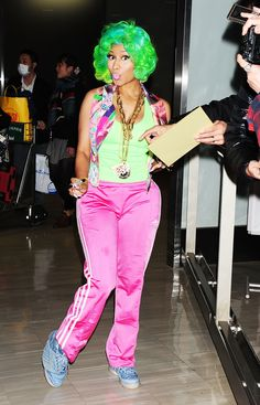 114b2751b4d nicki minaj pink sweatpants - Google Search Black Celebrities, Celebs,  Latest Celebrity Gossip,