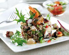 Ensalada de arroz con frutos del mar | Decoratrix | Decoración, diseño e interiorismo