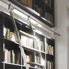 All of the architectural hardware we offer is engineered and manufactured to the highest performance standards. Shelf Design, Stair Design, Library Ladder, Modern Library, Retail Store Design, Modern Shelving, High Walls, Book Design Layout, Built Ins