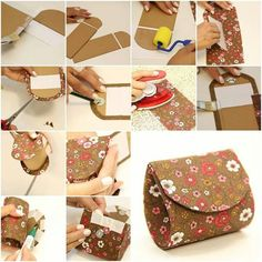 How to make your own beautiful designer money Pouch step by step DIY tutorial instructions Easy Paper Crafts, Diy And Crafts Sewing, Good Tutorials, Craft Tutorials, Craft Ideas, Diy Ideas, Project Ideas, Diy Clothes Tutorial, Diy Tutorial