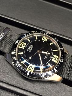 A remake of the 1965 Oris dive watch. Wear this to the office too. #Oriswatches #Oris