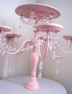 cake and cupcake displays | Crystal Chandelier Cake and Cupcake Stand by ShabulousChandeliers