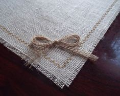 Burlap Placemats, Burlap and Lace Rustic Table Placemat,Burlap Placemats, Burlap and Lace 12 x 16 or 12 x 12 x 18 Rustic Table Placemat Measurements 12 inches inches or 12 inches * 14 inches. Burlap Table Settings, Hessian Table Runner, Rustic Placemats, Rustic Table, Craft Show Table, Tie The Knot Wedding, Burlap Curtains, Printing On Burlap, Crochet Cushions