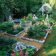 le potager a modern take on the potager garden in canada vegetable garden design le. Black Bedroom Furniture Sets. Home Design Ideas