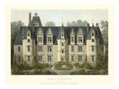 Petite French Chateaux III Giclee Print by Victor Petit at Art.com