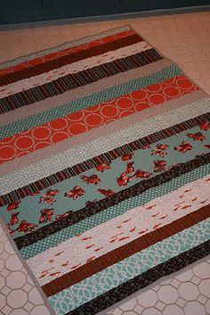 simple strip quilt design.