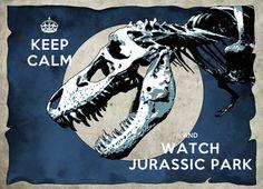 "Keep calm Jurassic park - Retro minimalist art movie poster print 11""x17""- Vintage keep calm illustration print poster.. $19.00, via Etsy."