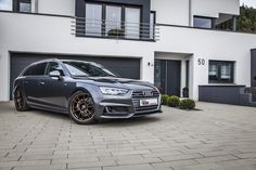 KW unveiled Audi A4 with coilover suspensions  The two coilover kits made of stainless steel give the fifth Audi A4 series an optimal and safe road position, even in the driving dynamics limit.