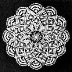 Crochet Projects Ravelry: Pretty Baby Doily pattern by Elizabeth Hiddleson Crochet Mandala, Filet Crochet, Easter Crochet Patterns, Knitting Patterns, Thread Crochet, Crochet Stitches, Cotton Crochet, Crochet Dollies, Pineapple Crochet