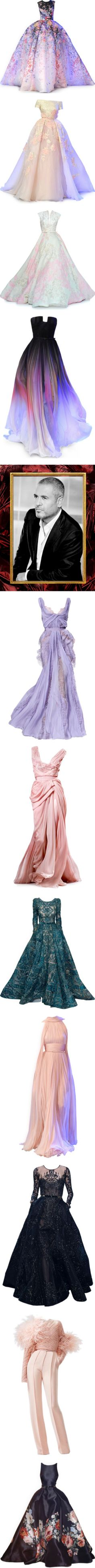 Elie Saab by satinee on Polyvore featuring dresses, gowns, long dresses, elie saab, long purple dress, purple evening dresses, elie saab dresses, purple ball gown, henley dress and long dress
