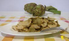 Straccetti+di+pollo+ai+carciofi+(ricetta+facile)