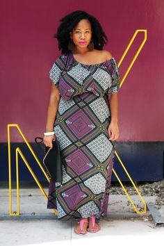 Kelly Augustine in our Annabelle Maxi Dress! #plussize #curvy