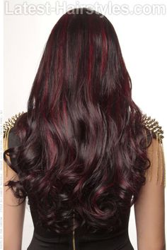 Mahogany with red highlights