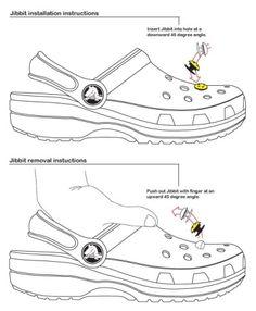 c12ad1cdd6c Jibbitz Instructions Drawing Crocs Shoes