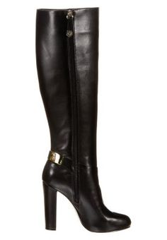 Perfection... these gorgeous black leather boots by Guess. They would look great with, well almost my entire wardrobe I guess?? <3