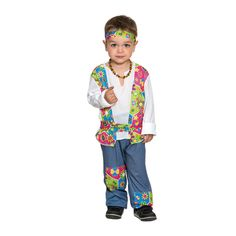 Disfraz de Mini Hippie Niño #disfraces #carnaval #novedades2015