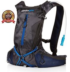 """Hydration Pack with 1.5 Liter BPA Free Bladder. Fits Men and Women with Chest Sizes 27"""" - 50"""". Great Storage Options and Side Pockets. Camden Gear http://www.amazon.com/dp/B00KSMVACW/ref=cm_sw_r_pi_dp_ZR3Xvb0GB7N13"""